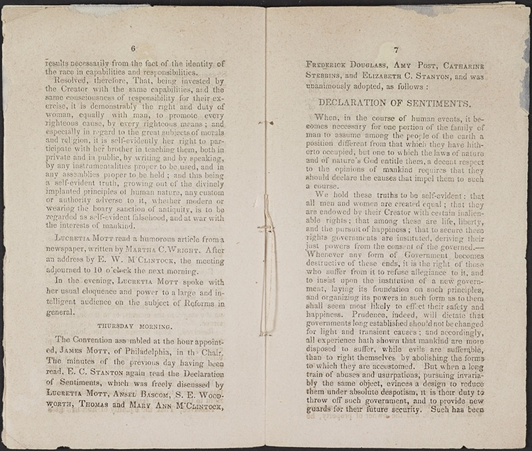 Frederick Douglas Declaration of Sentiments