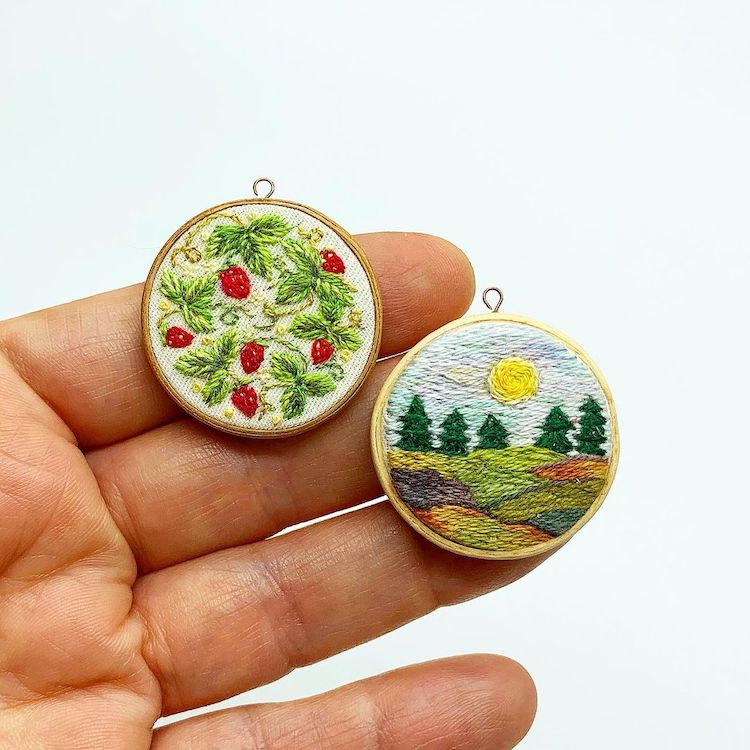 Embroidered Dollhouse Accessories by MiniArtHouse