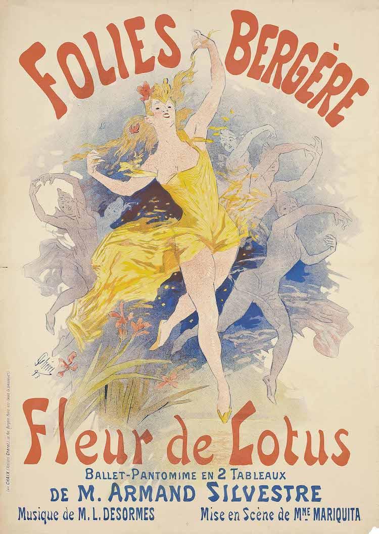 Póster del salón de música Folies-Bergerel