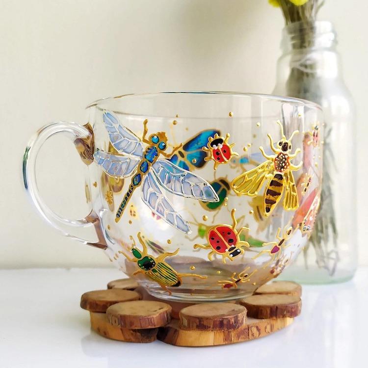 Glass Painting on Mugs by ArtMasha