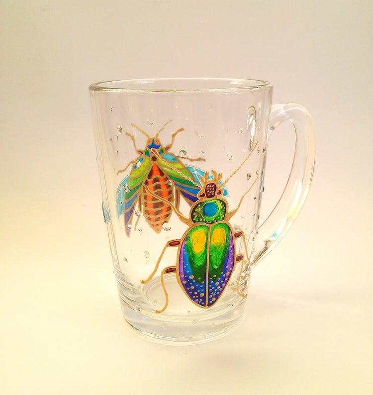 Hand-Painted Glass Mugs by ArtMasha