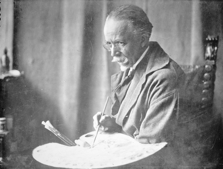 19th Century Black Artist Henry Ossawa Tanner With Paint Palette