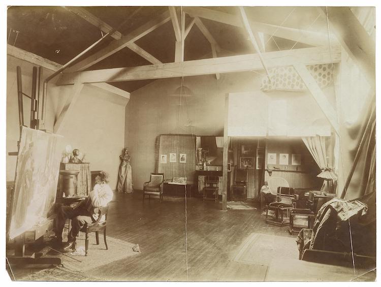 19th Century Black Artist Henry Ossawa Tanner In His Studio