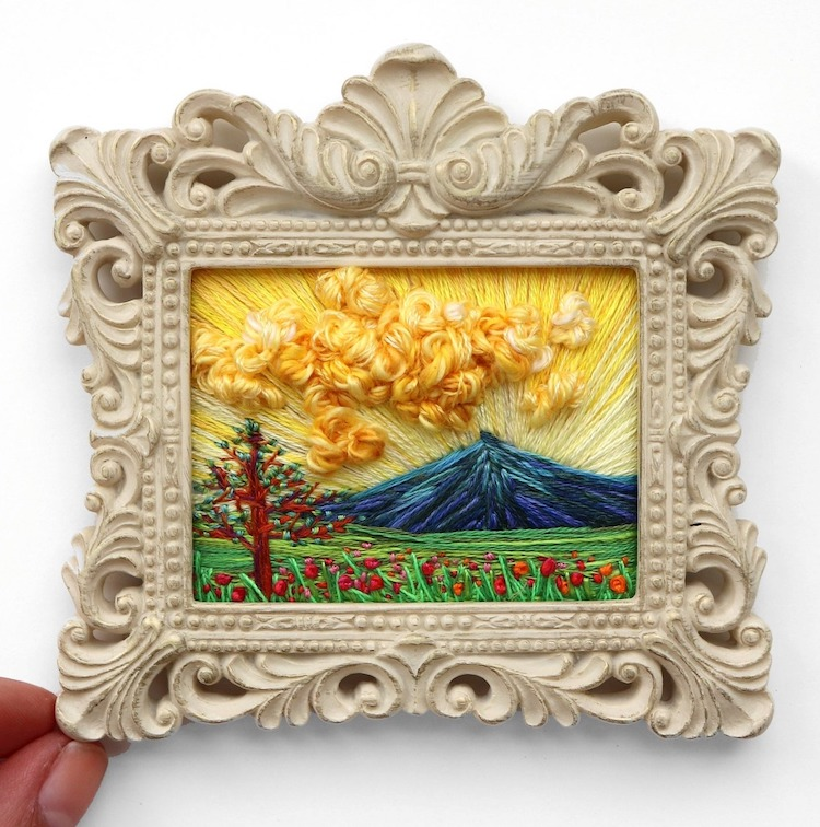 Landscape Embroidery by Carolina Torres