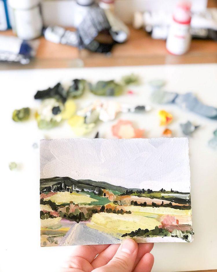 Pintura de paisajes abstractos por LaurieAnne Gonzalez
