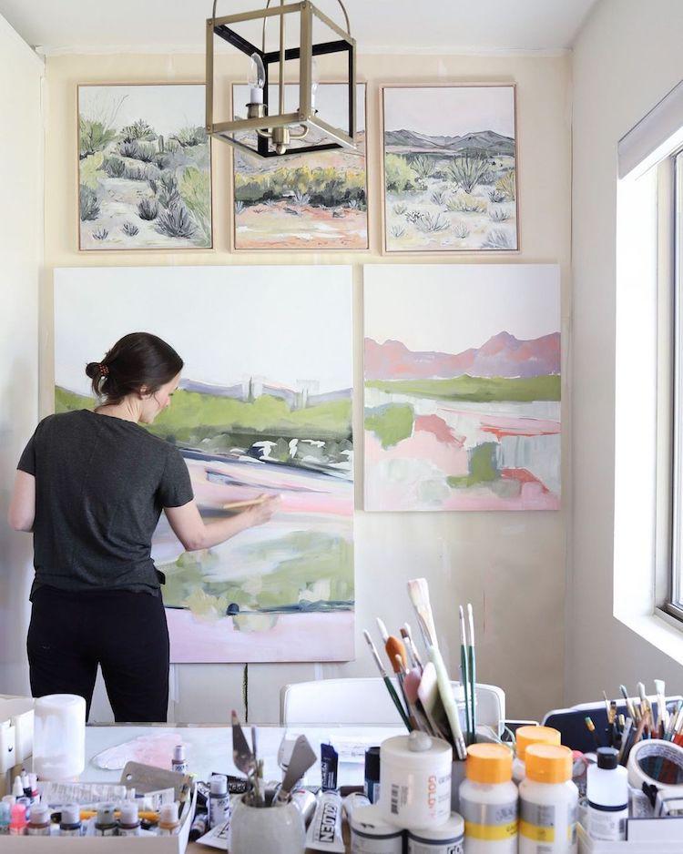 Pintura de paisajes abstractos por LaurieAnne Gonzalez LaurieAnne Gonzalez