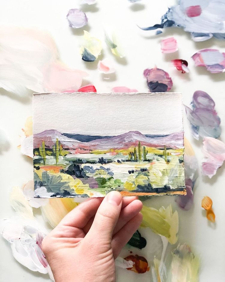 Abstract Landscape Painting by LaurieAnne Gonzalez