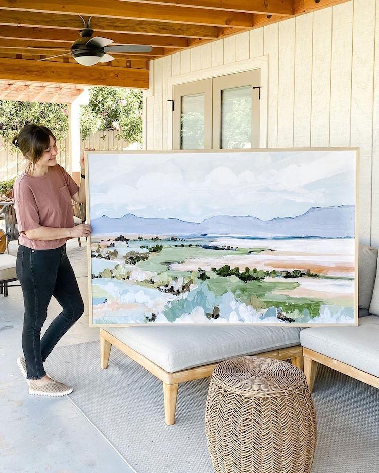 Pintura abstracta del desierto por LaurieAnne Gonzalez