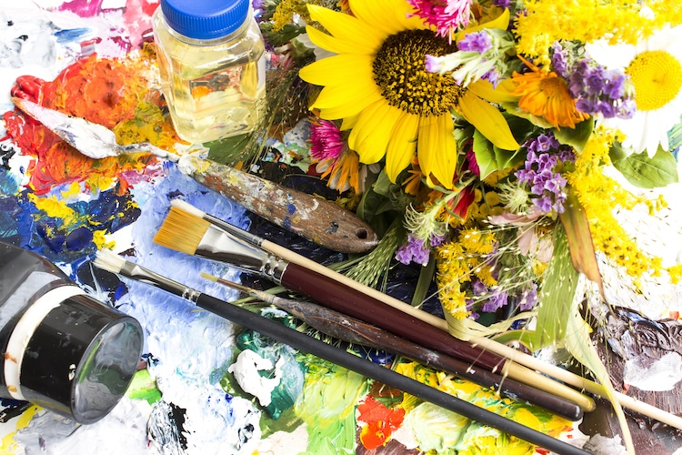 Paintbrushes and Linseed Oil