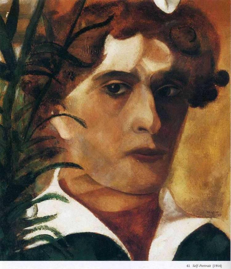 autorretrato de Marc Chagall