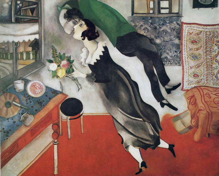The Birthday by Marc Chagall