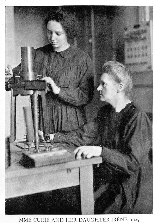 Marie Curie e Irene Curie