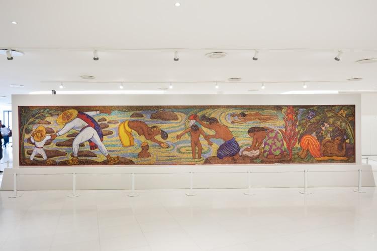 mural de diego rivera en museo soumaya