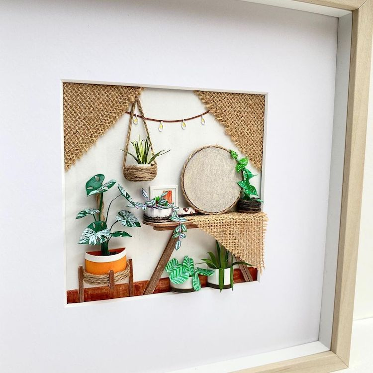 Miniature Paper Plants by Craftifact