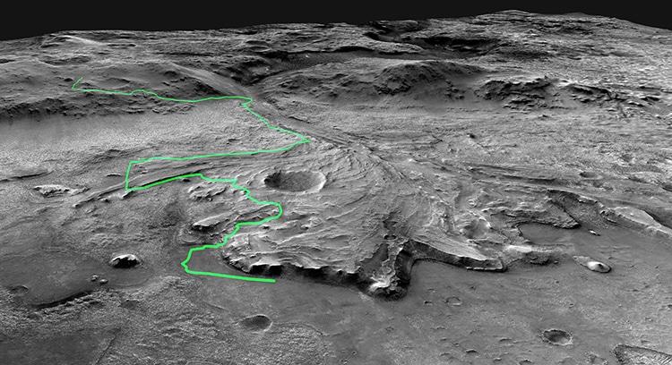 Path Mars Rover Perseverance NASA