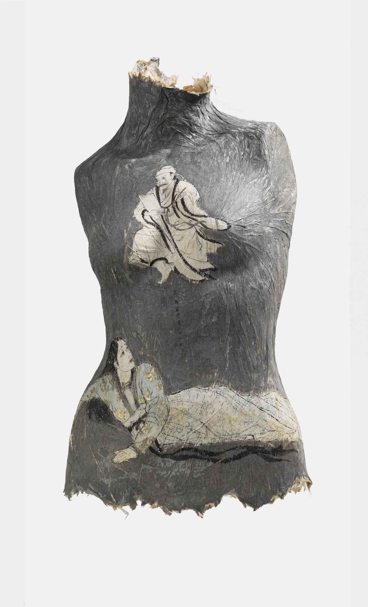 Feminine Paper Torso Sculpture