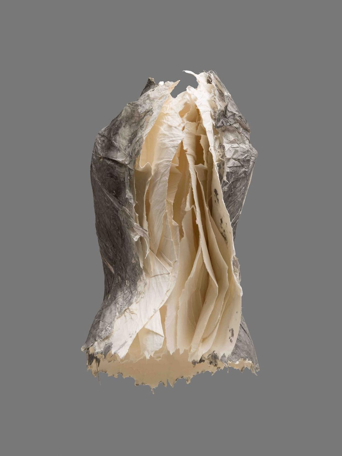 Paper Sculptures of Female Torsos