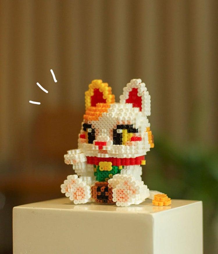 Fortune Cat 3D Perler Bead Pattern