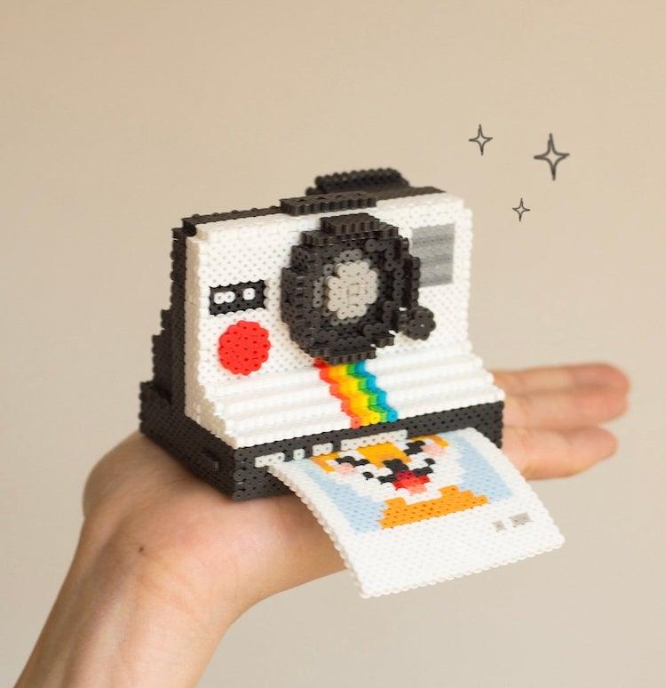 Camera 3D Perler Bead Pattern
