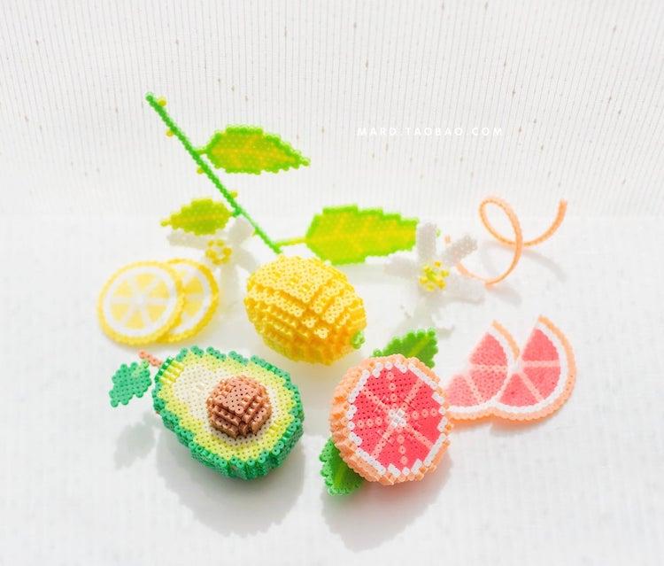 Fruit 3D Perler Bead Pattern
