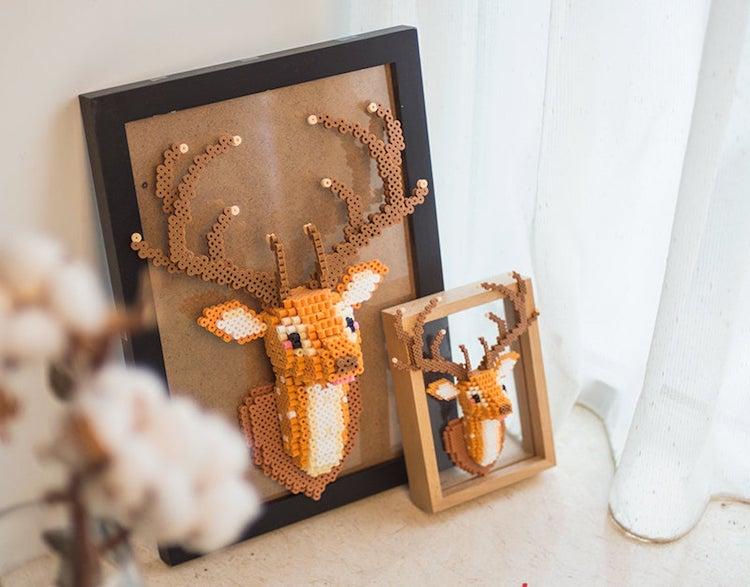 Deer Head 3D Perler Bead Pattern