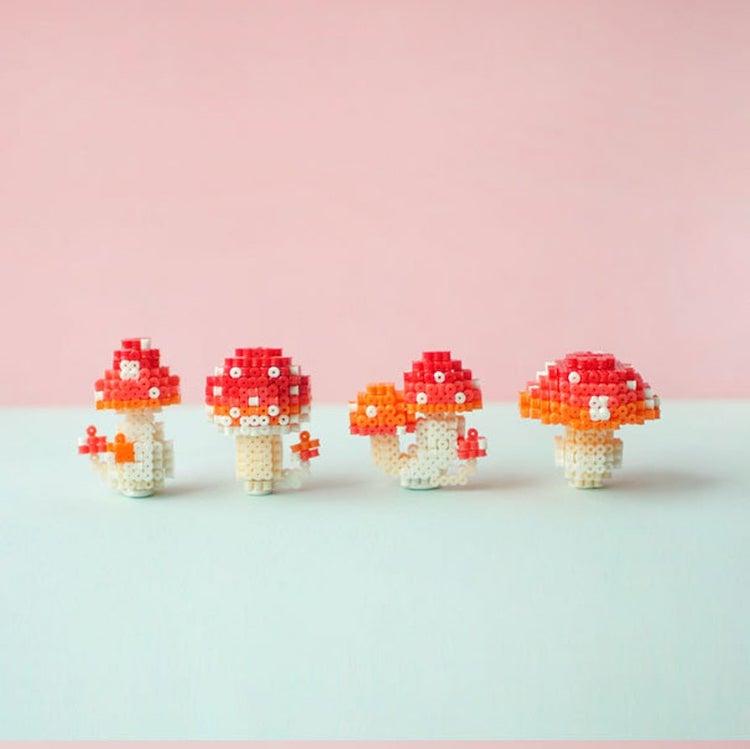 Mushroom 3D Perler Bead Pattern