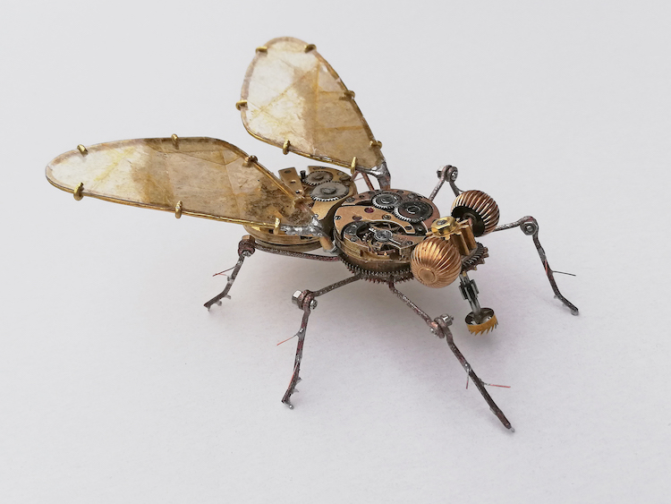 Steampunk Fly Made From Antique Watches by Peter Szucsy