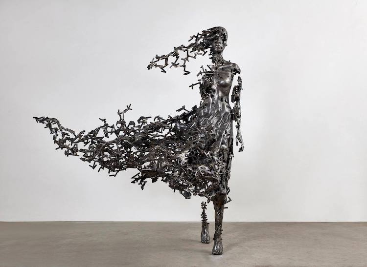 Fragmented Metal Sculptures by Regardt Van Der Meulen
