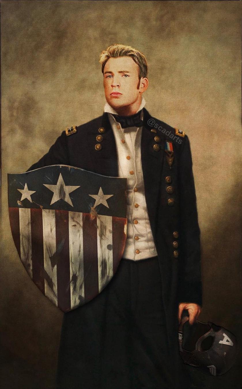retratos militares de la cultura pop