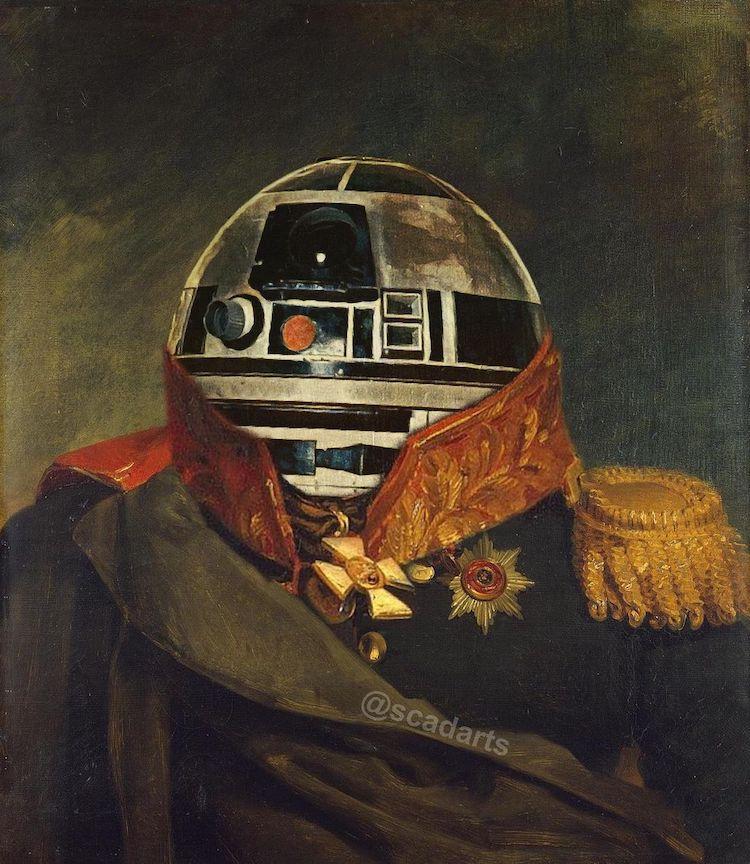 retratos militares de star wars