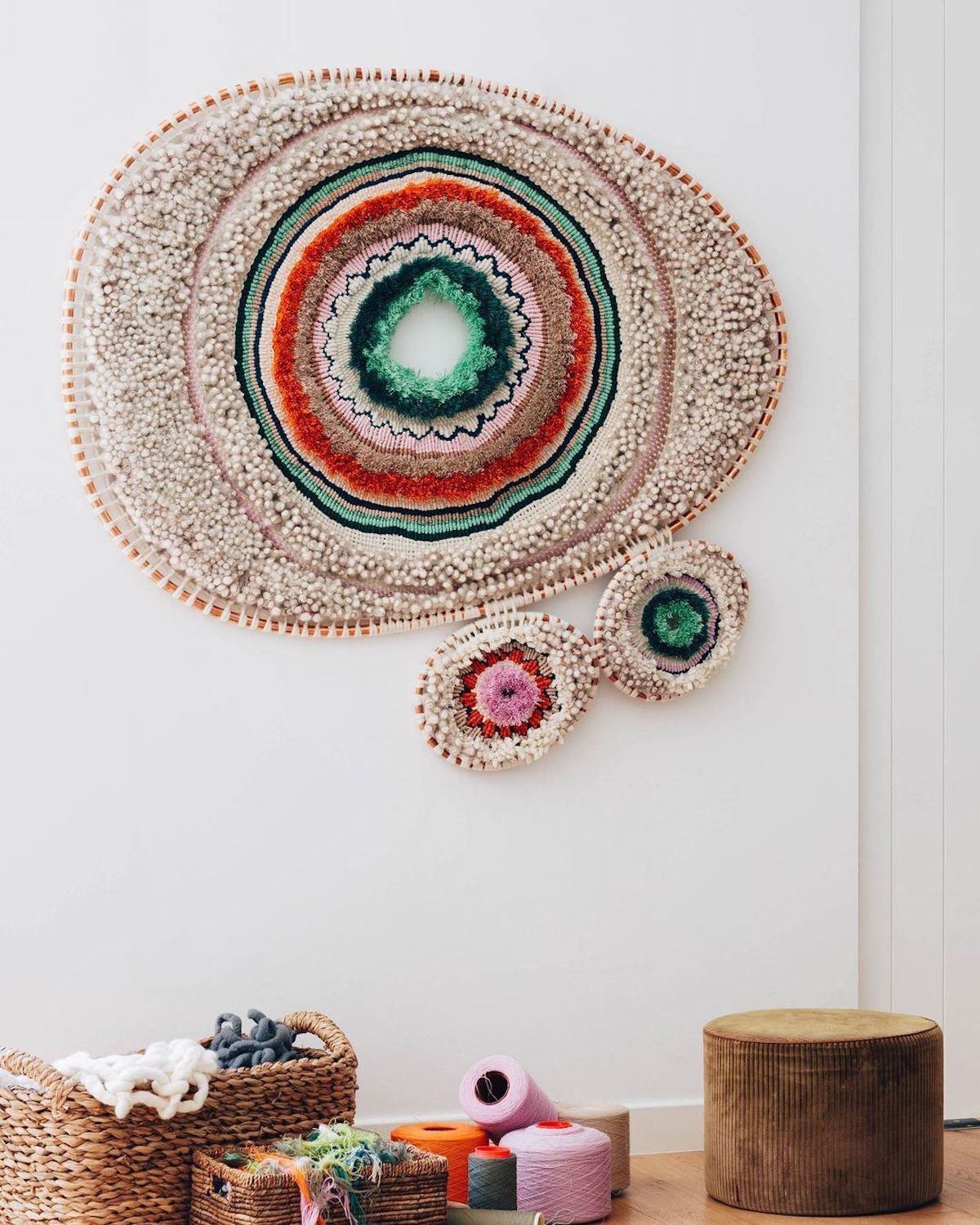 Textile Art Wall Hanging