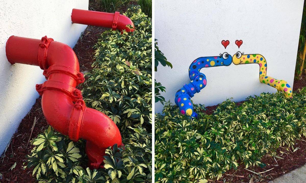 Spray Paint Street Art by Tom Bob