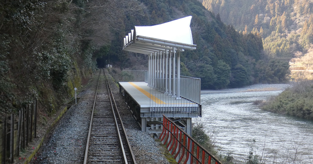 This Unusual Japanese Train Station in the Middle of Nowhere Has No Entrance or Exit