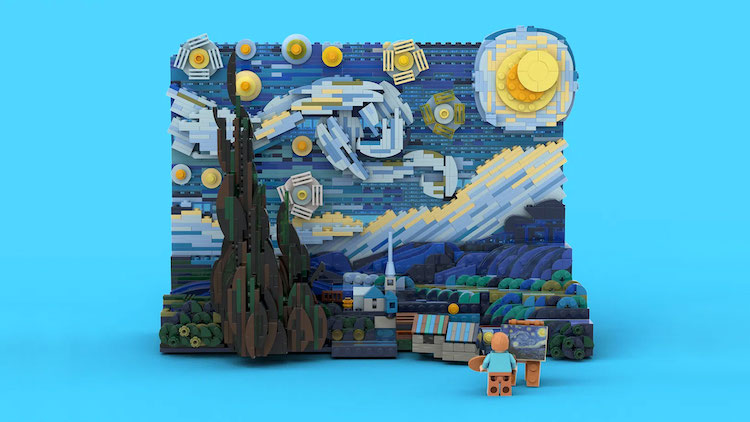 Vincent van Gogh Starry Night LEGO Set