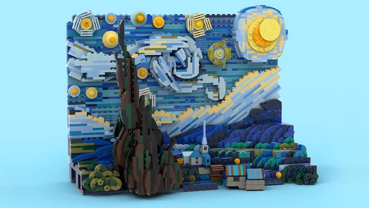 Vincent van Gogh Starry Night LEGO Set