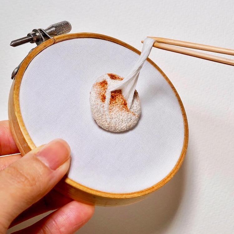 Pieza de bordado en 3D por ipnot