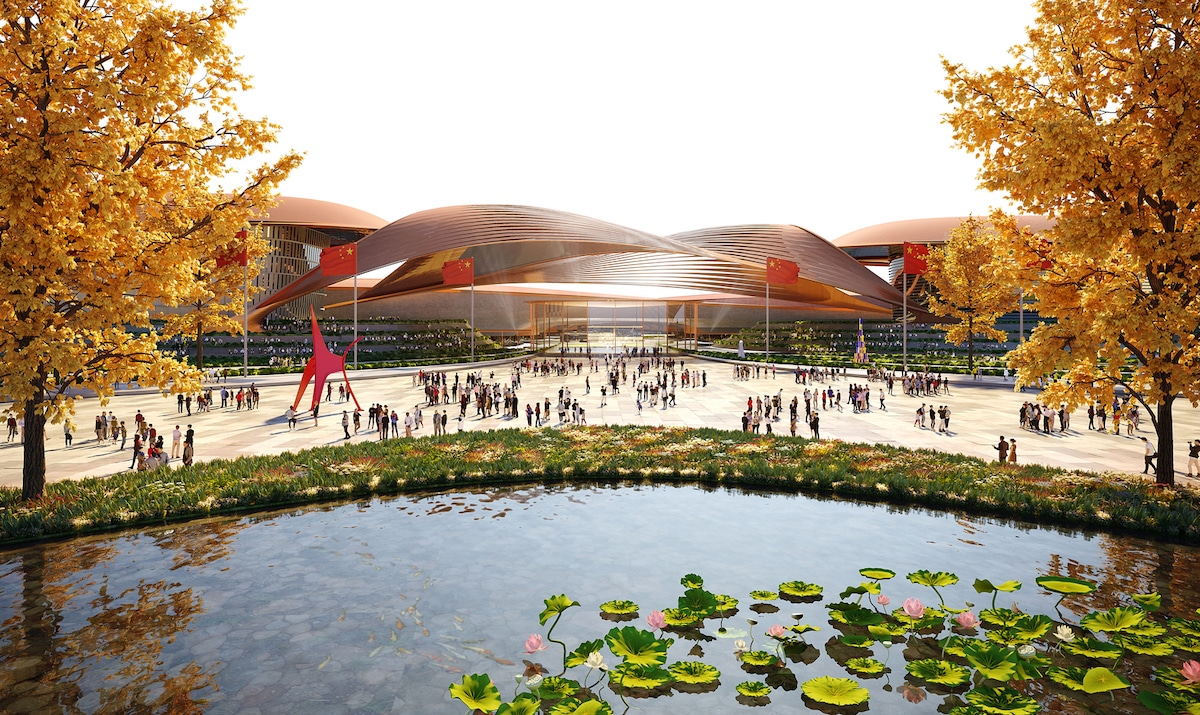 Building Rendering for an Exhibition Center in China