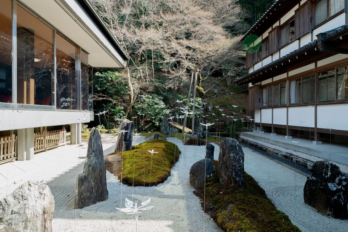 Delicate Transparent Flowers Are Blooming in This Kyoto Temple