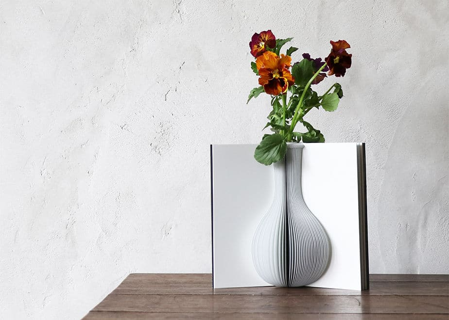 Book Pages as Floral Vase