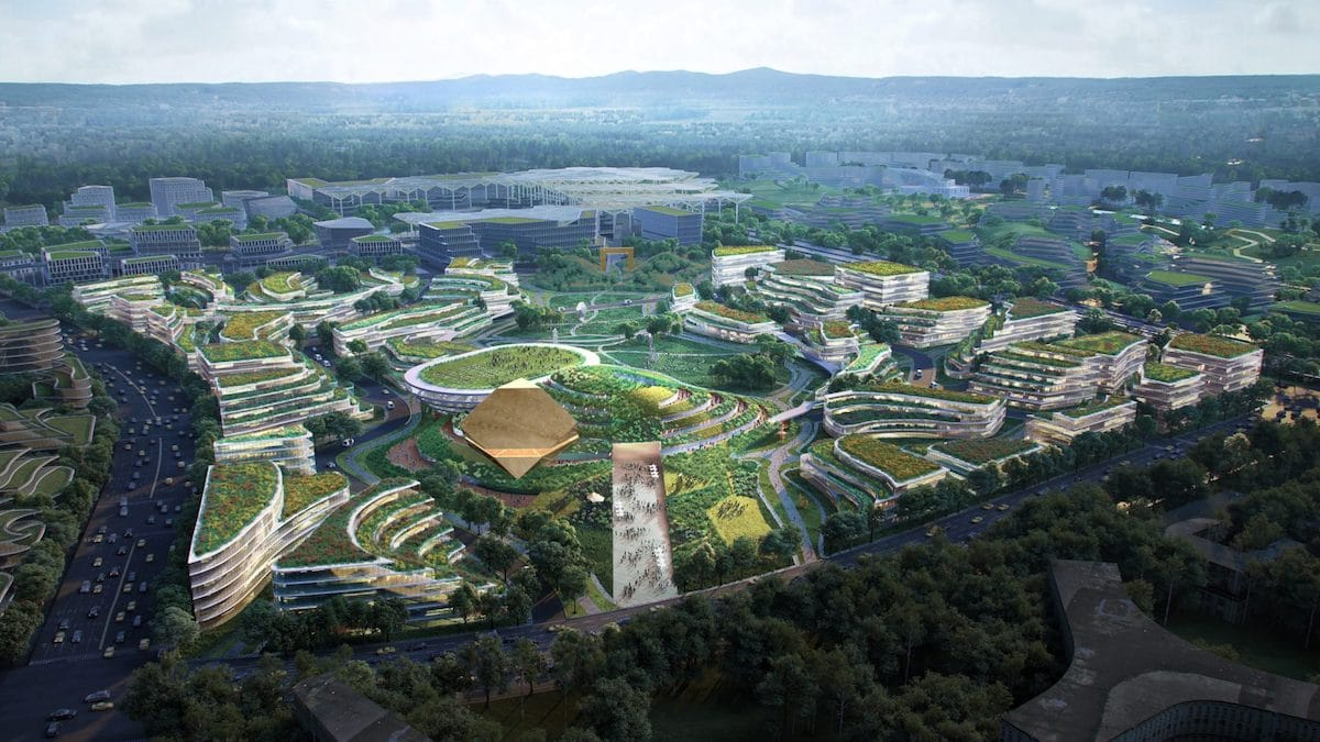 OMA's Chengdu Future City Is a Masterplan Designed Around Science and Technology