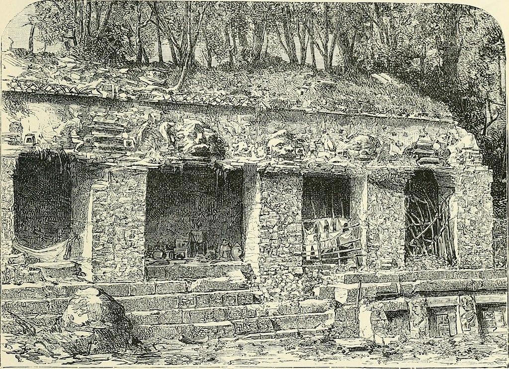 Ilustración de la fachada este del Palacio, Palenque