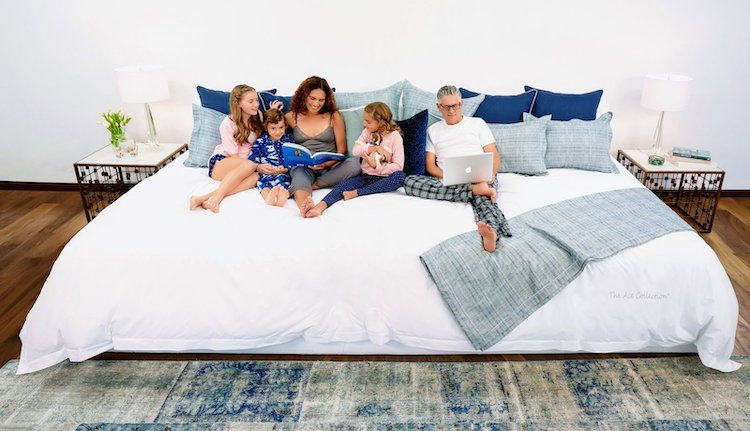Family on a Giant Mattress