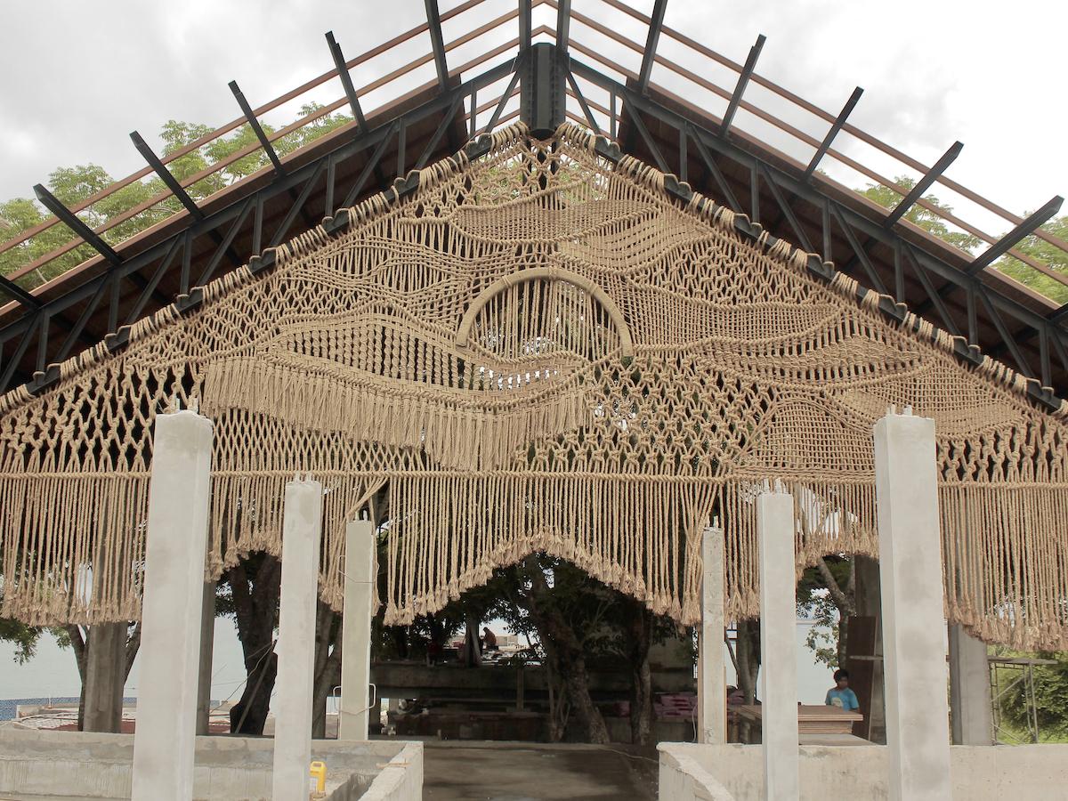 Agnes Hansella Macrame Art Installation Bali