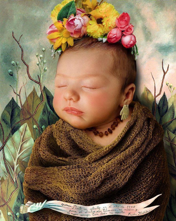 bebé en pinturas famosas por Lucas de Ouro