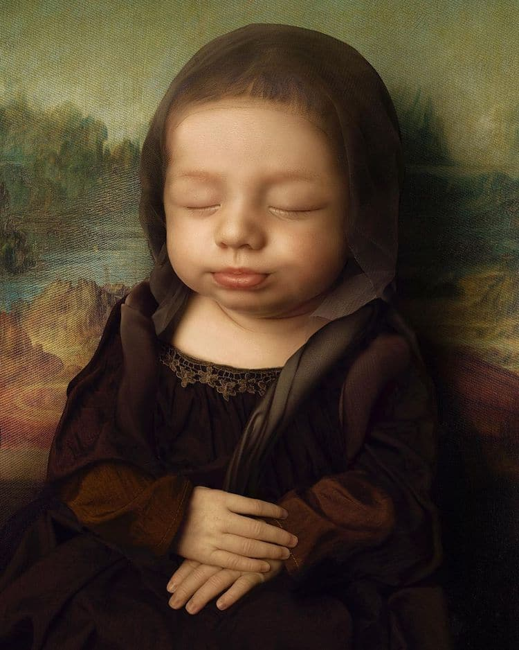 Baby Face in Famous Paintings by Lucas de Ouro