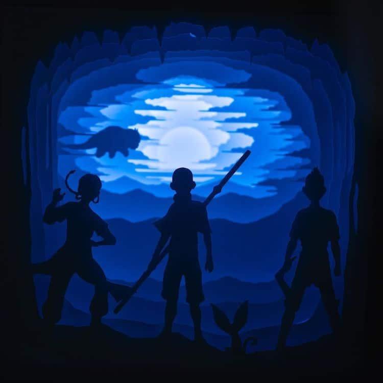 caja de luz de avatar la leyenda de aang