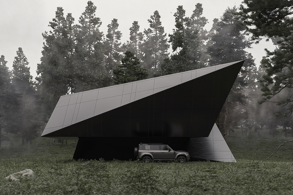 "This Sleek ""Blackbird Cabin"" Is Folded Like Architectural Origami"