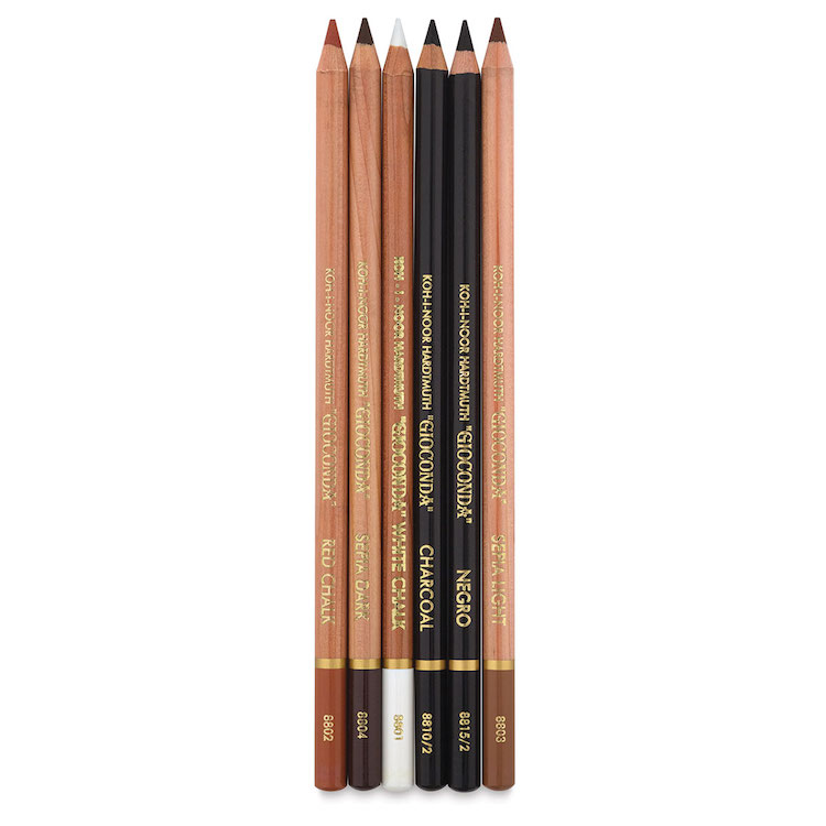 Set de lápices de carbón de artista de Koh-I-Noor