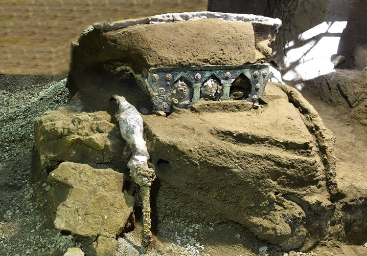 Pompeii Ceremonial Chariot Pilentum Ancient Rome