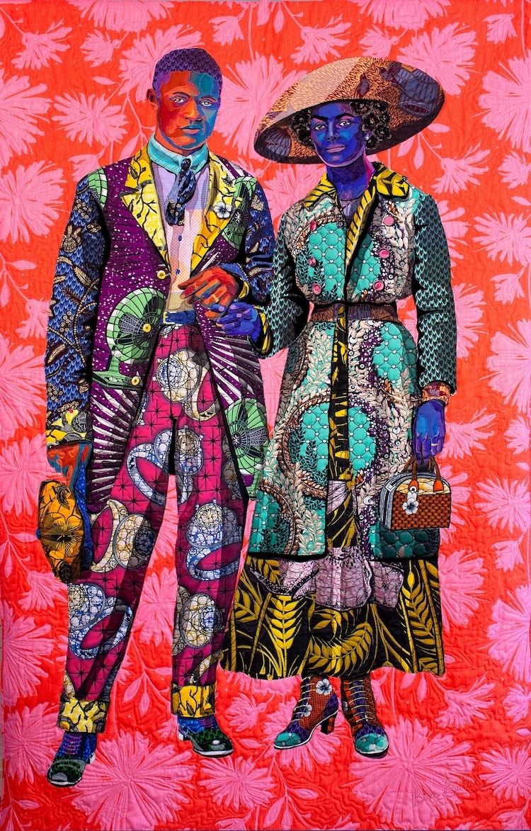 Quilted Portrait by Bisa Butler